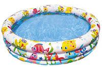 """59431 Бассейн детский """"Тропические рыбки"""" 132*28см, Надувной детский бассен, Бассейн для летнего отдыха детей"""