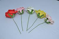 Роза латекс J-012 (100 шт./ уп.) Искусственные цветы