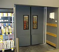 Защитные противоударные сэндвич двери для супермаркета