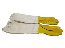"""Рукавички шкіряні жовті,""""BEE Land"""" з нарукавниками (Бавовна), Німеччина"""