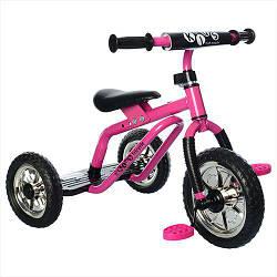 Трехколесный велосипед детский Profi Kids M 0688-4 для самостоятельной езды Pink