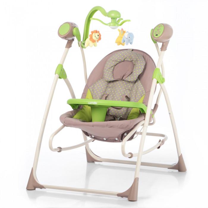 *Детский шезлонг- качалка (колыбель) с пультом Tilly Nanny Green Dot арт. 0005