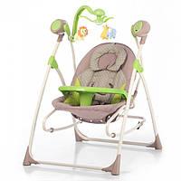 *Детский шезлонг- качалка (колыбель) с пультом Tilly Nanny Green Dot арт. 0005 , фото 1