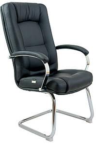 Офисное кресло Richman Альберто-CF чернjt на полозьях-Хром, для персонала