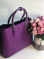 Модна жіноча сумка PRADA cuir double bag (репліка), фото 1