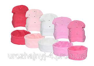 Детские трикотажные шапка и хомут арт.