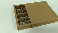 Коробка на 16 конфет крафт без окна, фото 1