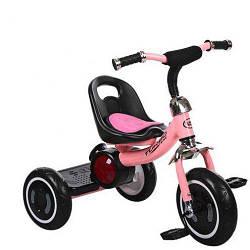 Трехколесный велосипед детский с подсветкой и музыкой M 3650-M1 для самостоятельной езды Pink