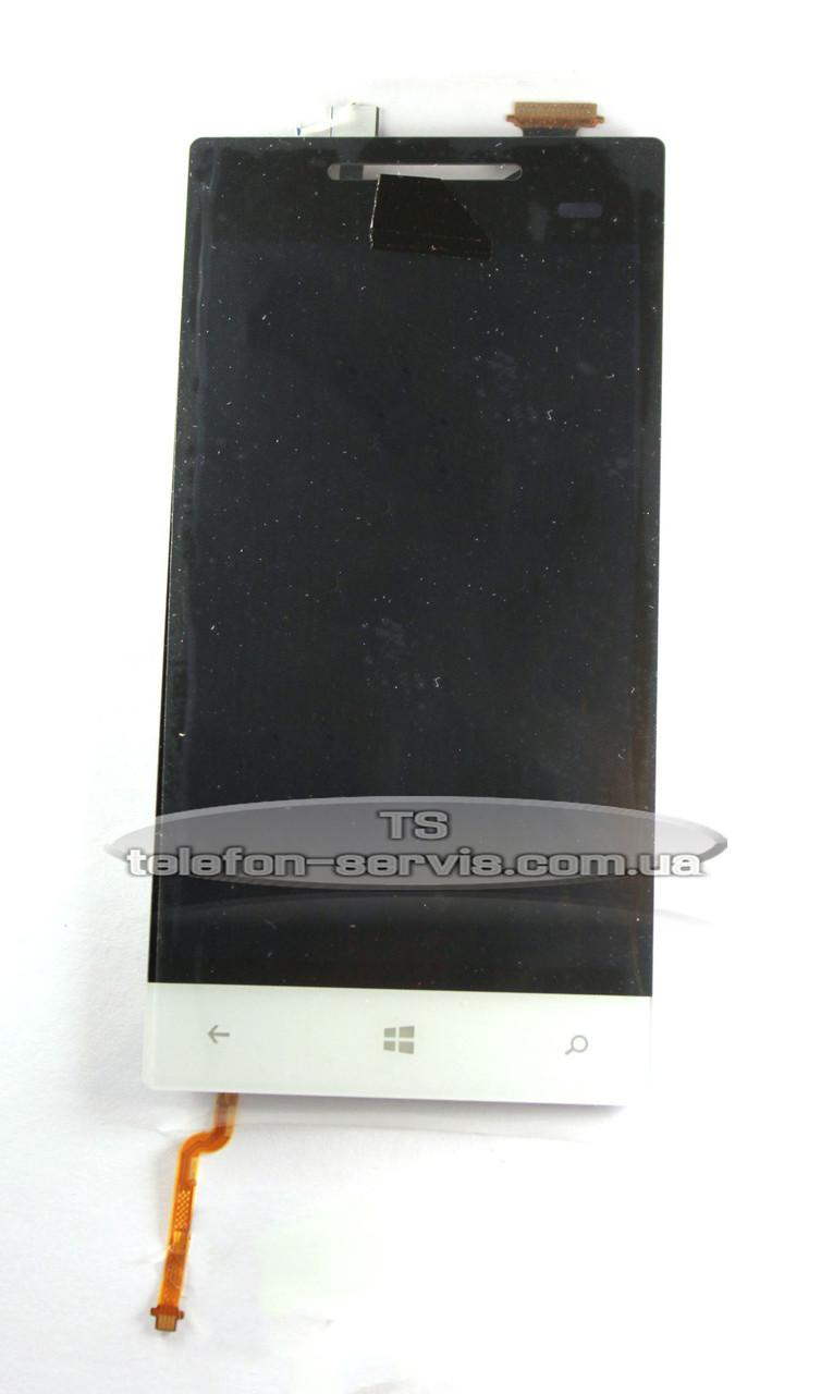 Дисплейный модуль HTC A620e Windows Phone 8S, белый, с тачскрином