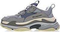 Женские кроссовки Balenciaga Triple S Grey (в стиле Баленсиага Трипл С) серые