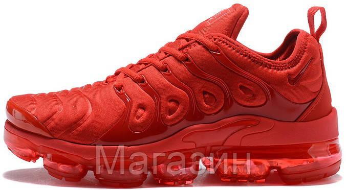 """Мужские кроссовки Nike Air VaporMax Plus """"Red"""" (в стиле Найк Вапормакс Плюс) красные"""