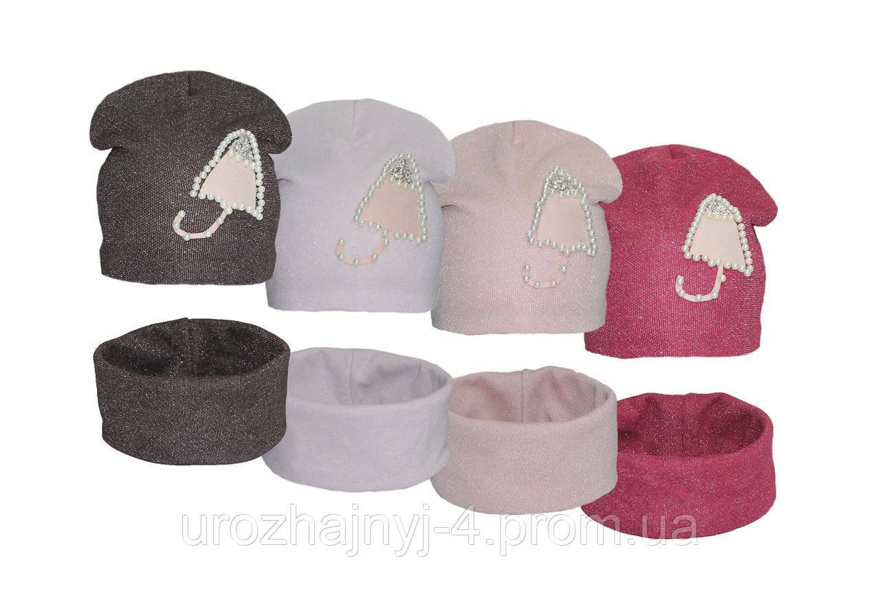 9e288477efd Детские трикотажные шапка и хомут арт. - GLORY-kids - детские шапки оптом от