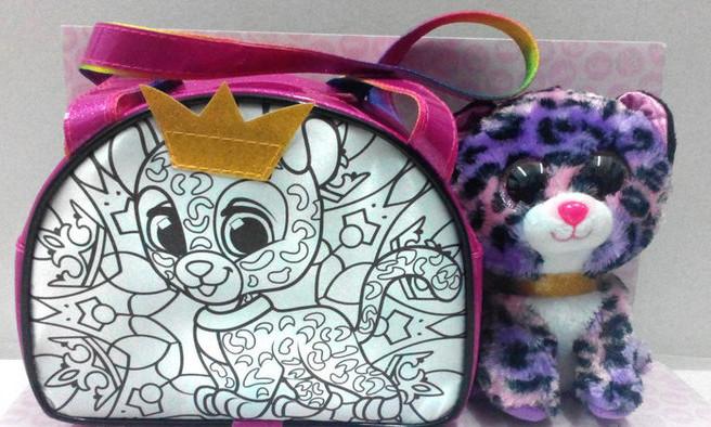Котик в сумочці, яку можна розмалювати, набір для творчості ROYAL PET'A S, Україна RP-01-05U