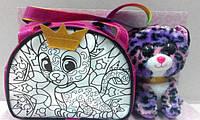 Котик в сумочці, яку можна розмалювати, набір для творчості ROYAL PET'A S, Україна RP-01-05U, фото 1
