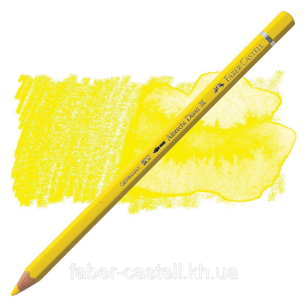 Карандаш акварельный цветной Faber-Castell Albrecht Dürer кадмиевая желтизна  (Cadmium Yellow)  № 107, 117607