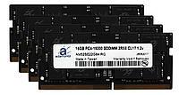 Пам'ять Adamanta 64GB (4x16 ГБ) DDR4 2400Mhz PC4-19200 SODIMM 2Rx8 CL17 1.2 v для ноутбука, фото 1