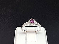 Серебряное кольцо Сумерки с фианитами и родолтом. Артикул 1676/9Р-ROD 18, фото 1