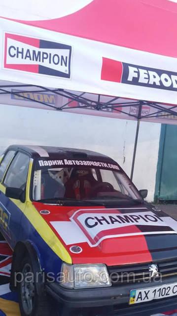Париж авто запчасти выступил спонсором  команды на автогонках.