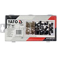 Набор саморезов и металлических клипс 170шт YATO YT-06780