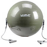 Фитбол с эспандером GYM BALL WITH EXPANDER 65 см LS3227