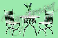 Комплект стіл з стільцями білий (ясен)