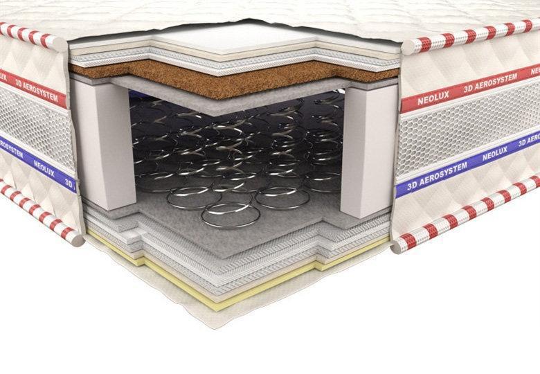 Ортопедический матрас 3D Гранд Ультра Кокос Зима-лето 120х200