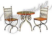Комплект стіл з стільцями червоний (ясен)