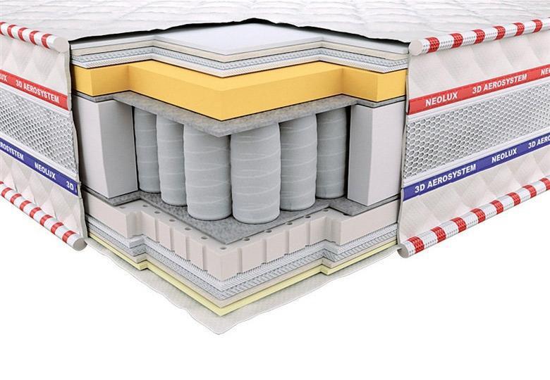Ортопедический матрас 3D Империал Мемори-Латекс Зима-лето PS 160х200