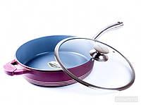 Сковорода BERGNER 26 см Керамическое антипригарное покрытие с стеклянной крышкой  Код: КГ4638
