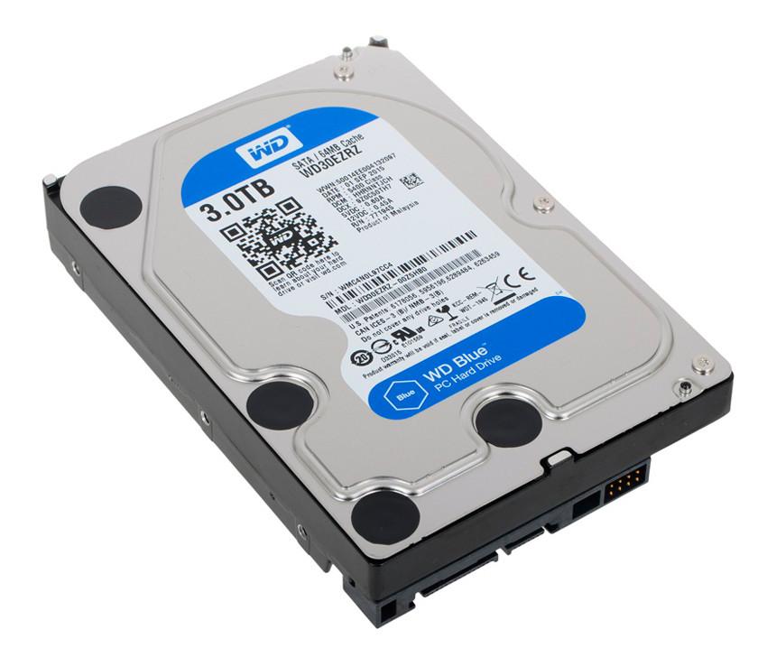 Жесткий диск 3 Tb Western Digital Blue, SATA 3, 64Mb, 5400 rpm (WD30EZ