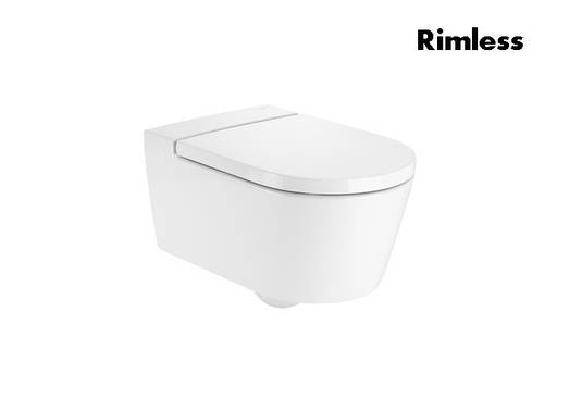 INSPIRA Round унитаз 370*560*440мм, подвесной, круглый, Rimless, горизонтальный выпуск