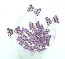 Шпильки для волос бантик с сиреневыми кристаллами 20 шт/уп, фото 2