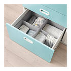 Пеленальный стол с ящиками IKEA STUVA / FRITIDS 90x79x102 см белый голубой 792.531.60, фото 4