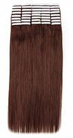 Волосы на лентах 50 см. Цвет #06 Каштановый, фото 1