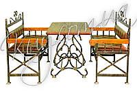 Комплект стіл з лавочками, фото 1