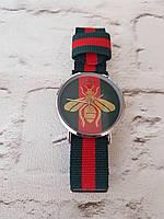 Супер новинка! Модные женские наручные часы Gucci пчела металлик