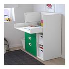 Пеленальный стол с ящиками IKEA STUVA / FRITIDS 90x79x102 см белый зеленый 092.672.74, фото 2