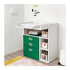 Пеленальный стол с ящиками IKEA STUVA / FRITIDS 90x79x102 см белый зеленый 092.672.74, фото 3