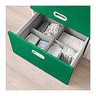 Пеленальный стол с ящиками IKEA STUVA / FRITIDS 90x79x102 см белый зеленый 092.672.74, фото 5