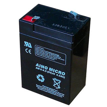 Аккумулятор 6V 4.5 ah гелевый для детских мотоциклов и электромобилей , фото 2