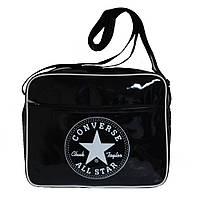 Молодежная сумка-планшет, лаковая, горизонтальная, фото 1