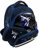 Рюкзак Delune 9-117 школьный ортопедический для мальчика часы, рюкзак для сменки, пенал 28 см х 16 см х36 см