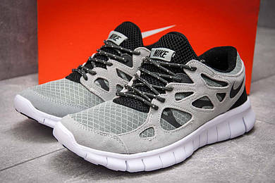 Кроссовки мужские в стиле Nike Free Run 2+, серые (13445),  [  41 44  ]
