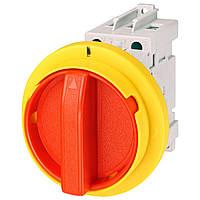 Выключатель нагрузки аварийный для монтажа  на дверцу шкафа ETI LAS 63 D Y-R (желто-красная рукоятка) (4661209)