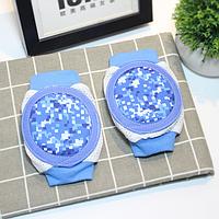 Наколенники детские с мягкими подушечками Голубые Пиксели (01148)