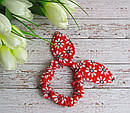 Резинка Солоха с ушками в цветочек 20 шт/уп, фото 5