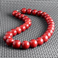 Коралл красный, Ø13,5 мм., бусы, 412БСК