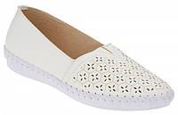 Женские мягкие удобные белые туфли, балетки Inblu PR-4U