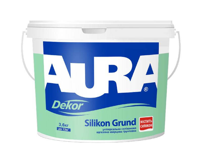 Грунт с кварцевым песком AURA DEKOR SILIKON GRUND адгезионный 2,5л