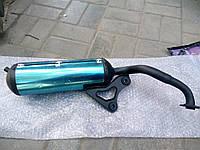 Глушитель с хромированными накладками на скутер Honda Dio AF 34,35